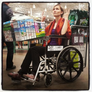 Rocking a shopping wheelchair today!